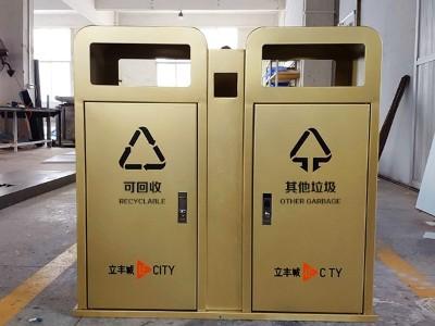 广场垃圾桶定制(双个)