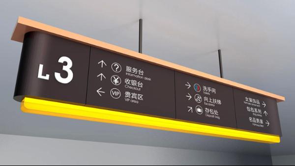 商场导向标识系统的几个设计要点
