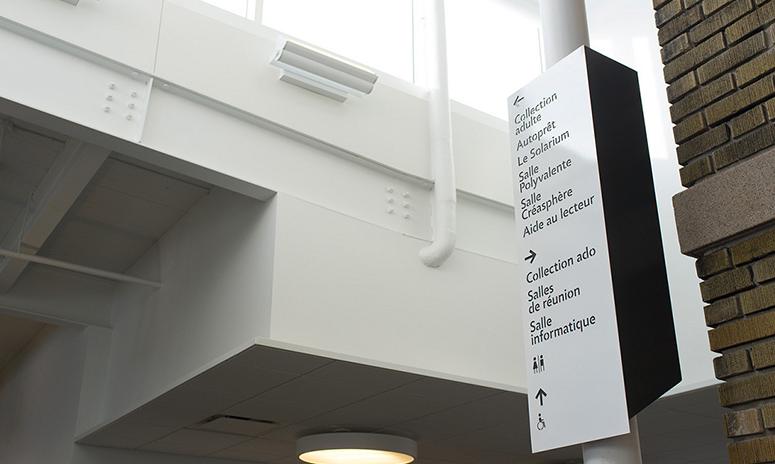 图书馆标识