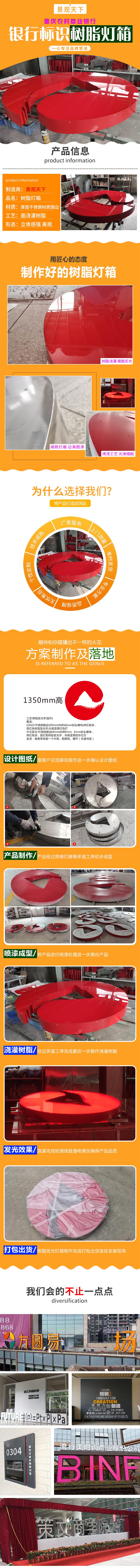 重庆农村商业银行(logo)树脂灯箱