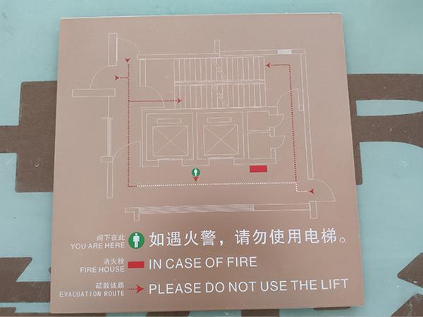 安全疏散提示牌标识
